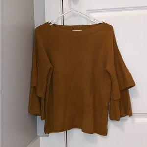 Madewell Sweater with Ruffle Sleeves
